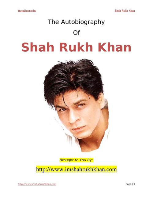 Sharukh's autobiography
