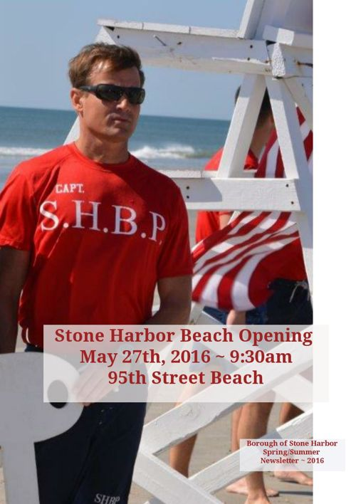 Borough of Stone Harbor ~ Spring/Summer Newsletter 2016