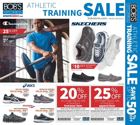 073017 Bob's Athletic Training Sale
