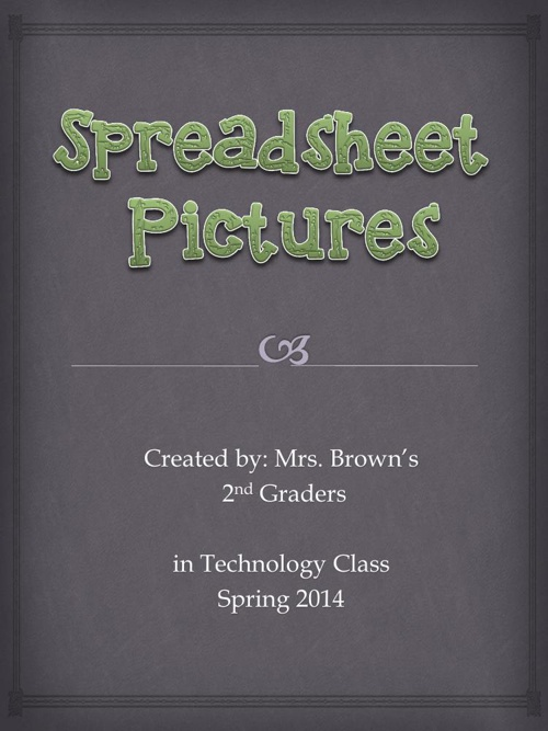 Mrs. Brown's Spreadsheet Pictures