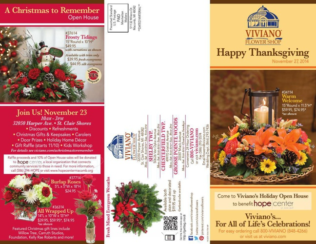 Viviano's Thanksgiving Catalog 2014