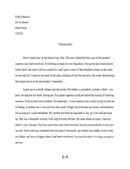 Short Story I.III