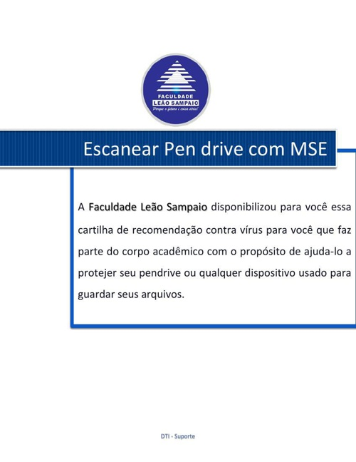 Escanear Pendrive com MSE