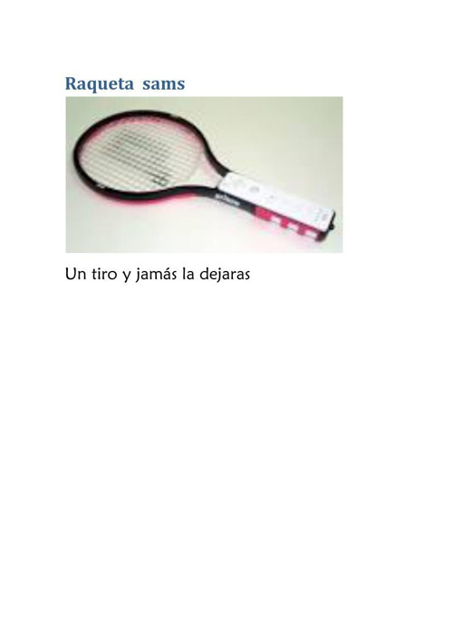 Raqueta  sams