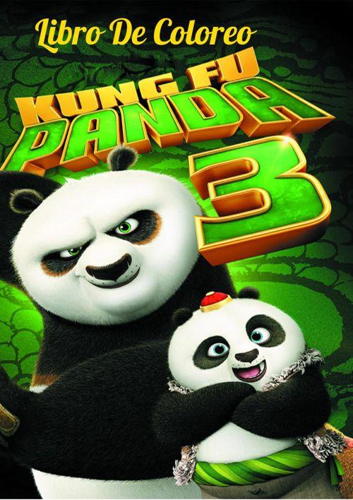 Libro de Coloreo Kung fu Panda 3