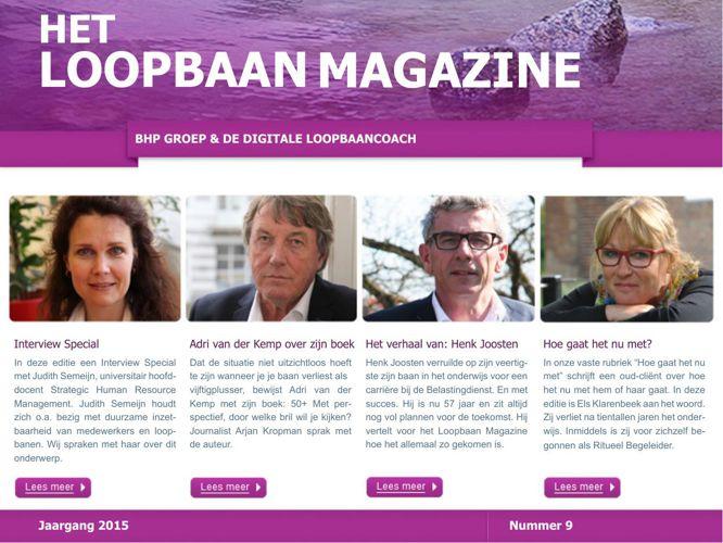 Het Loopbaan Magazine - editie 9 - juni 2015