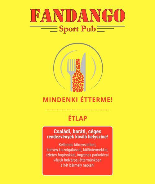 Fandango Sport Pub Étlap 2017