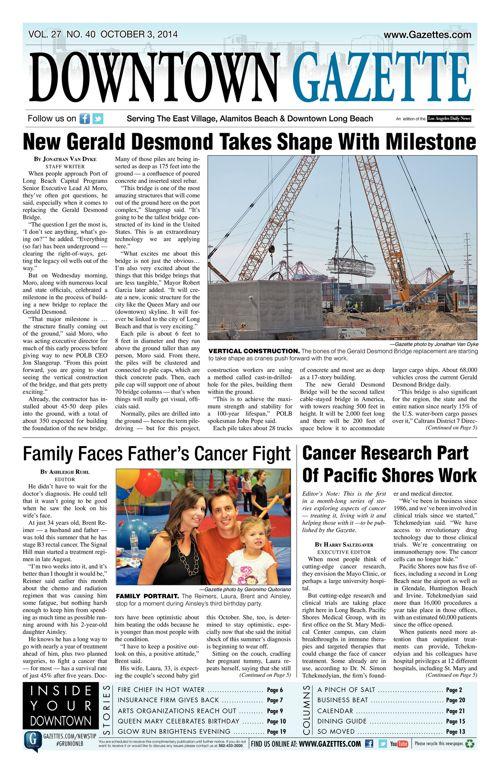 Downtown Gazette     October 3, 2014