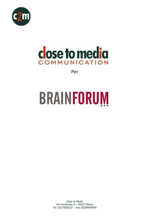 Rassegna stampa Brainforum 2016