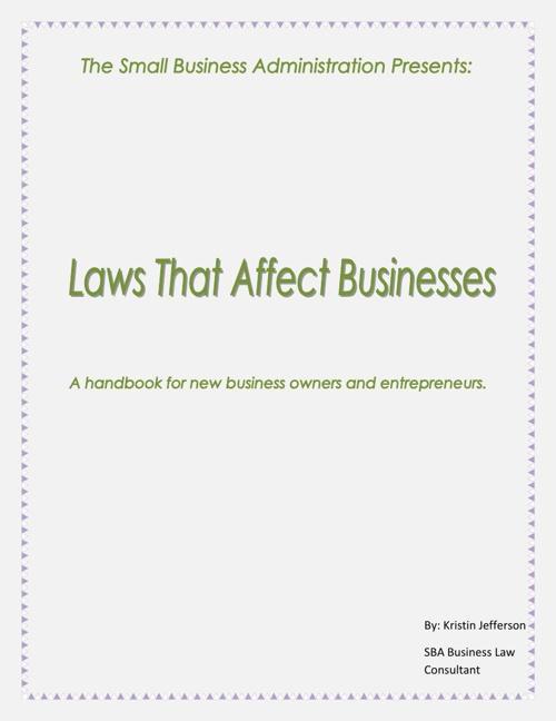 Laws That Affect Business Handbook