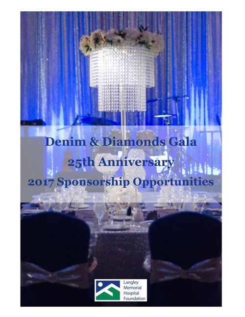 LMHF Denim & Diamonds Gala - Sponsorship 2017