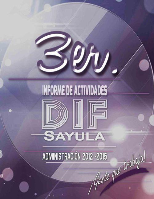 TERCER INFORME DE ACTIVIDADES DIF SAYULA JALISCO