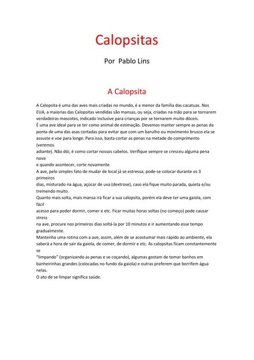 Calopsitas