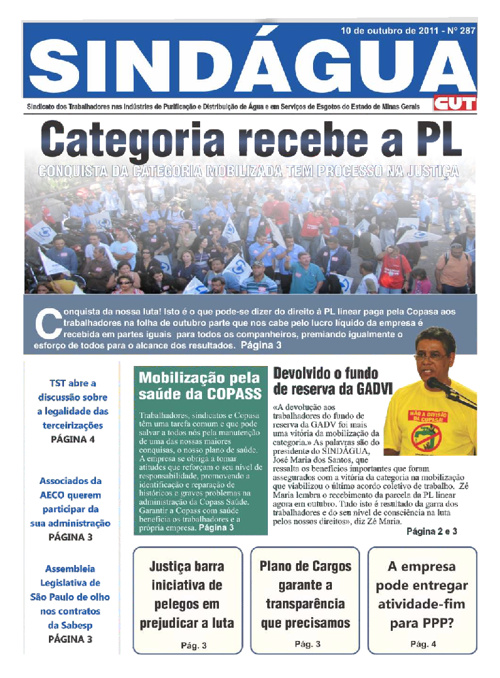 Jornal Sindagua MG