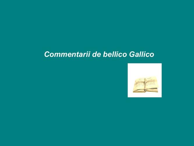Commentarii de Bellico Gallico