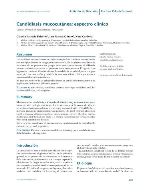 CANDIDIASIS MUCOCUTANEA ARTICULO