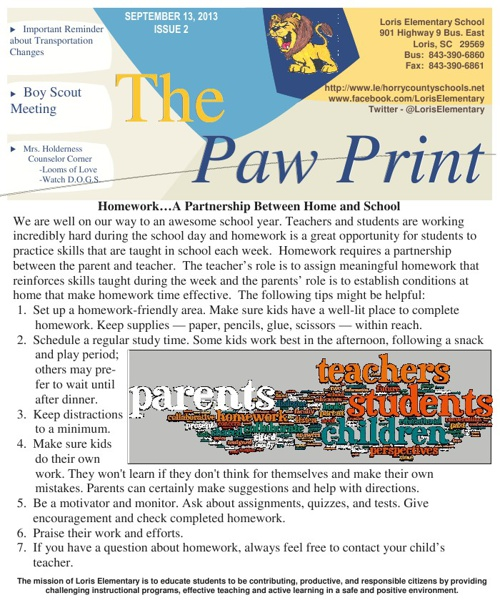9 13 13 Issue II The Paw Print