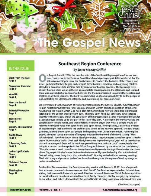 Gospel News November 2016