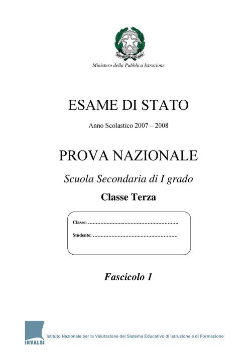 2008_Prova_nazionale_primo_ciclo