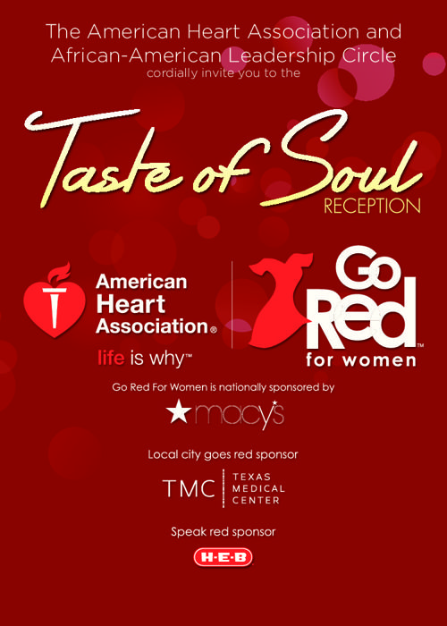 Go Red Girlfriend Taste of Soul Invitation