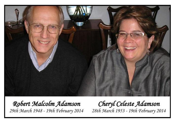 Memorial Card for Robert & Cheryl Adamson