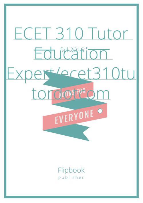 ECET 310 Week 1 Homework 1_1 (Devry)