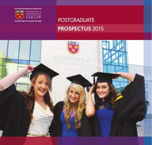 ITCarlow - Postgraduate Prospectus 2015