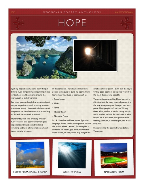 HOPE - Poetry Anthology