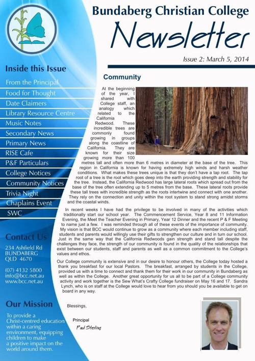 BCC Printable eNewsletter Edition 2 - March 2014