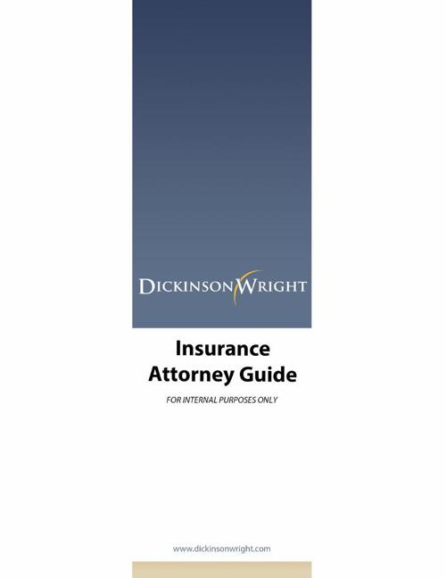 Insurance Attorney Guide 2014