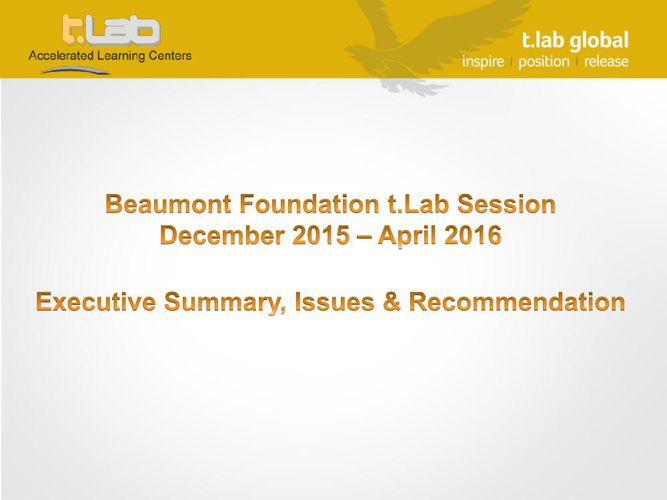 Beaumont t.Lab VPFM Pilot Executive Summary