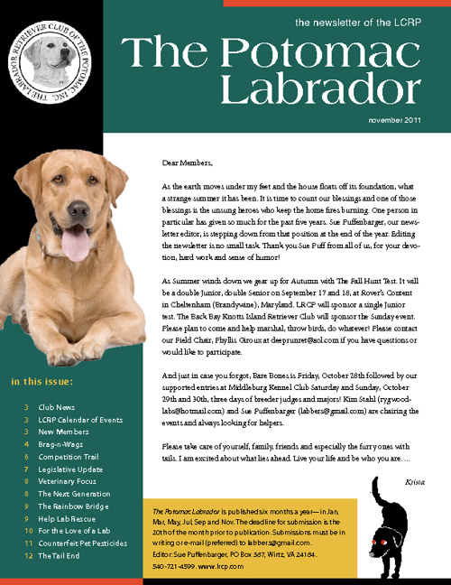 LRCP Fall 2011 Newsletter