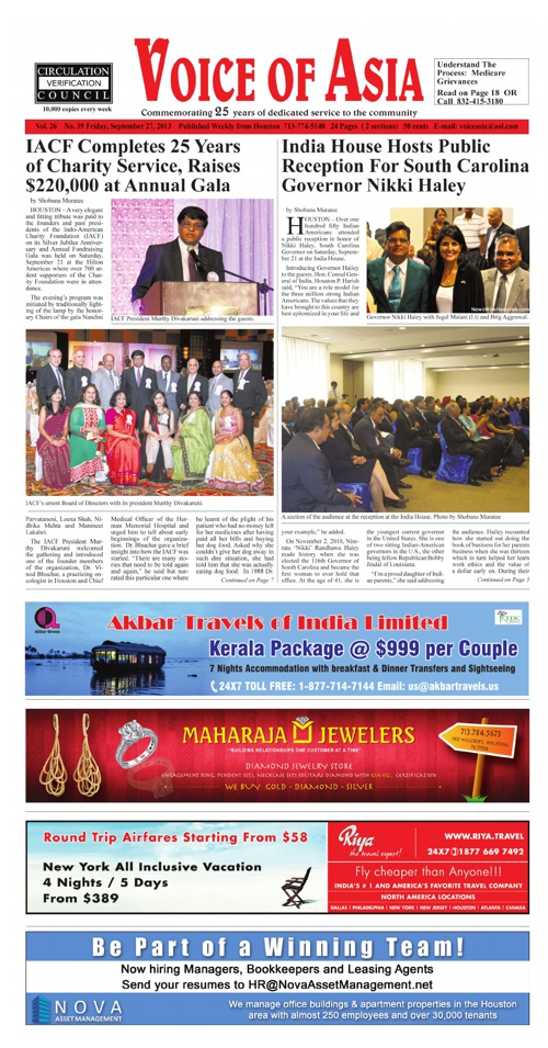 Voice of Asia September 27, 2013
