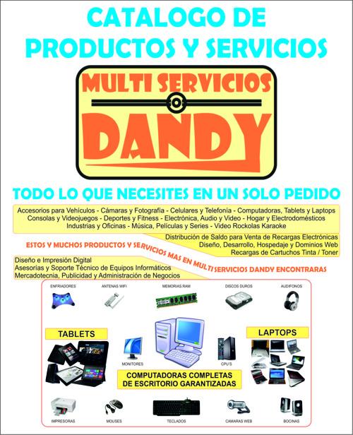 CATALOGO DE PRODUCTOS Y SERVICIOS MULTI SERVICIOS DANDY