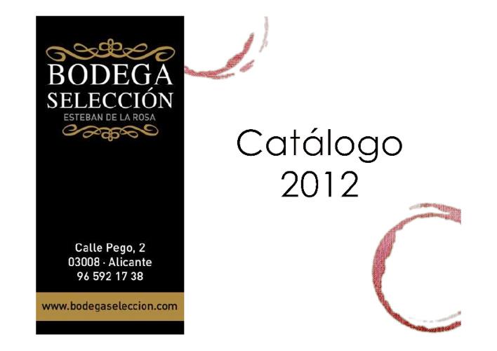 Catalogo Bodega Selección 2012