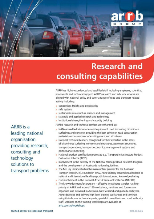 Research and consulting capabilities