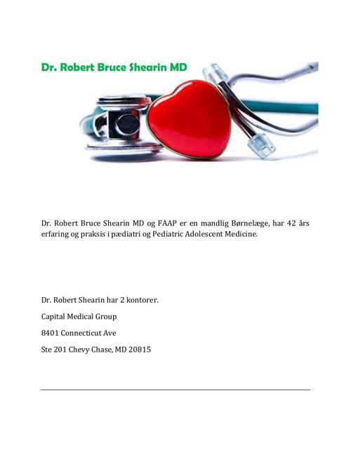 Dr. Robert Bruce Shearin MD