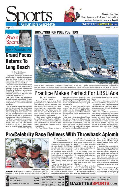 Gazette Sports   April 17, 2014
