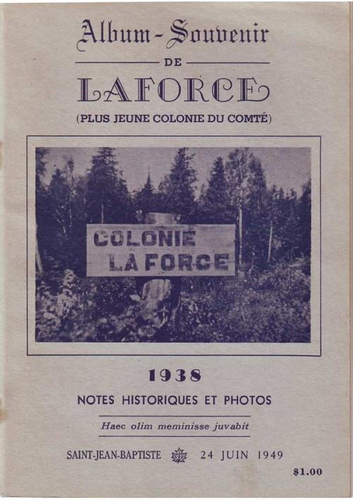 Album souvenir Laforce 1938-1949