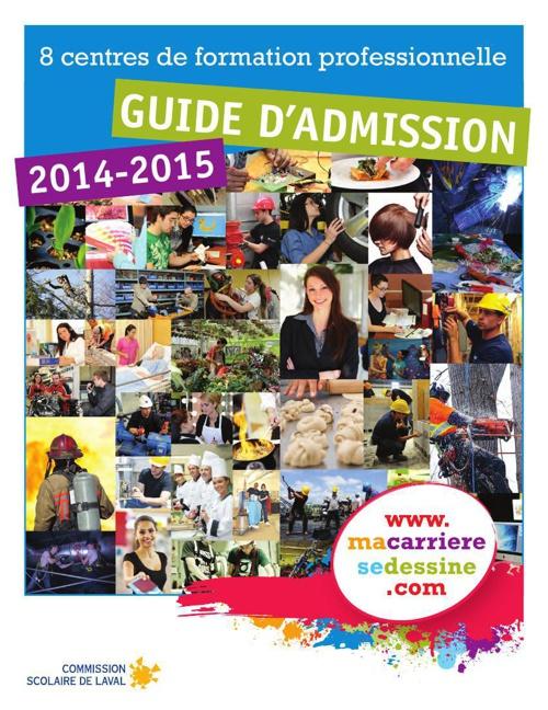 Guide d'admission à la formation professionnelle 2014-2015 de la