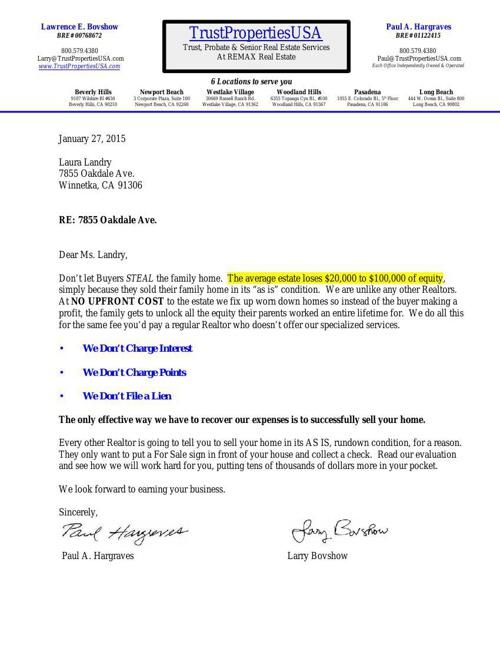 Oakdale 7855  Broker Price Opinion  2015 01 27