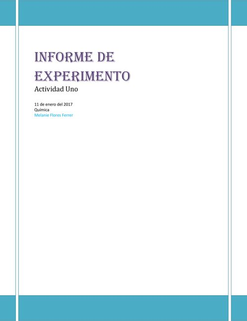 Informe de Experimento