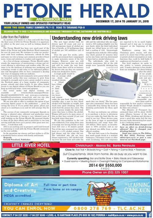 Petone Herald 17 December 2014