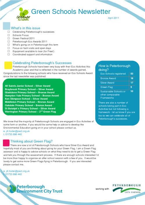 Green Schools Newsletter Summer 2011