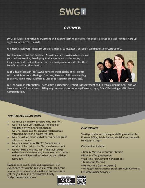 SWGi Info Pack