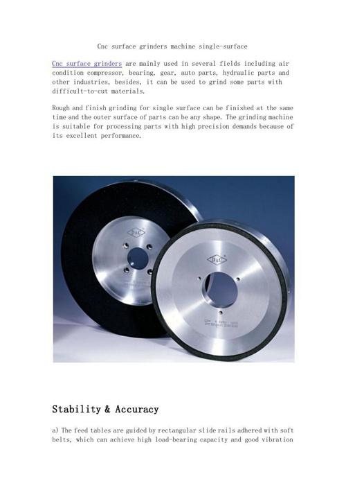 Cnc surface grinders machine single-surface