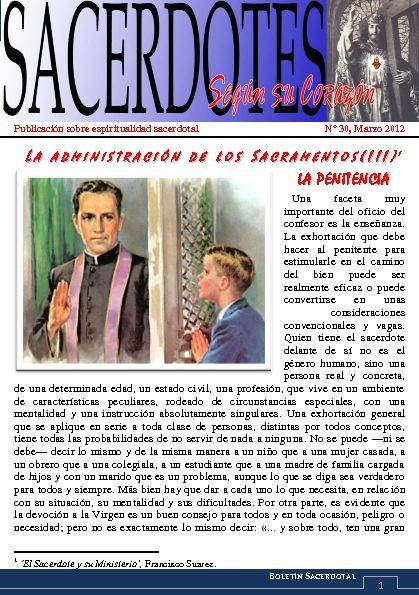 Sacerdotes según su Corazón, Abril 2012