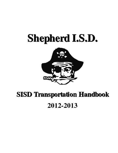 SISD Transportation Handbook 2012-13