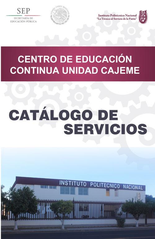 Catálogo CEC Cajeme 2016