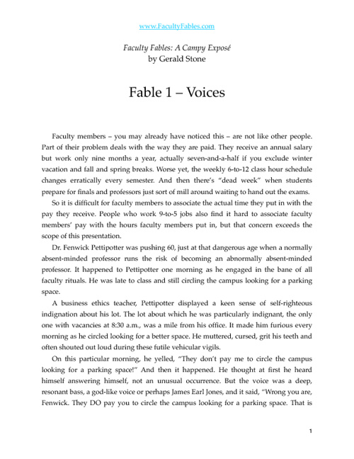 Fable 1 - Voices